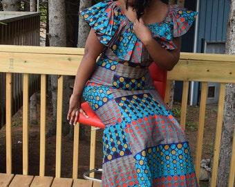 African Print Women's Dress, Women's Dress, Ankara Print Dress