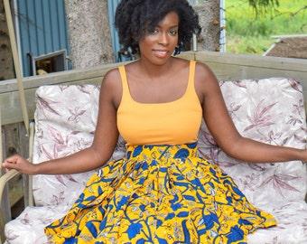 African Print Skirt, Ankara Print Skirt, Women's Skirt