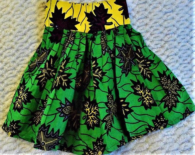 Skater Circle Skirt Children Circle Skirts African Print Girl Skirt Digital Print Girl Skirts.