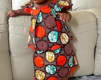 2 Piece Ankara Prints Babies Girl Suits Top & Skirt set Girl Clothing.