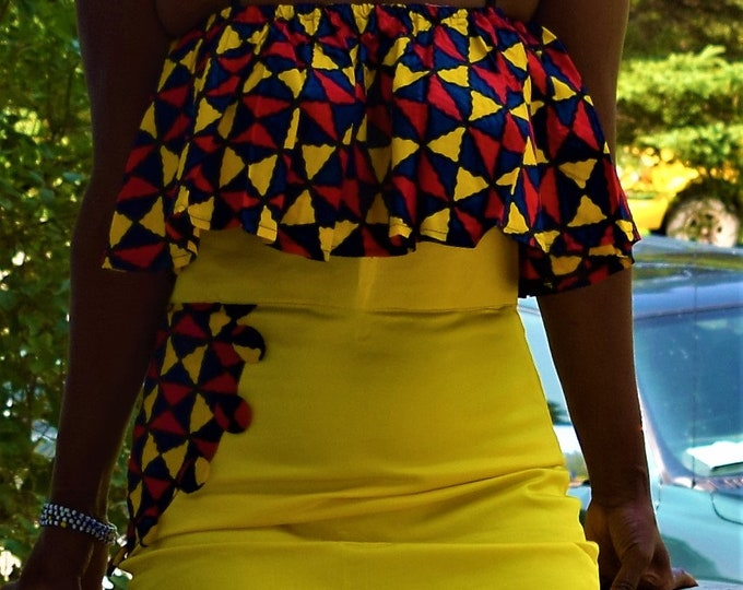 Stylist Mix Print sets Handmade, Women's Suits Ankara Print Wear.