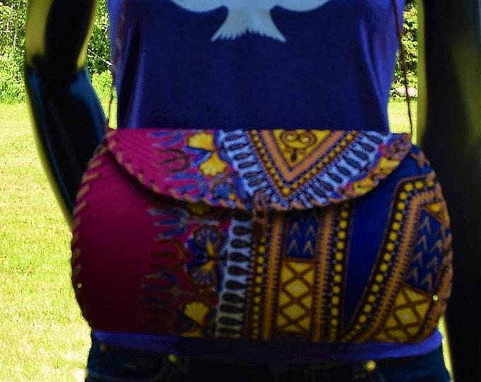 Shoulder Bag African Print Leather Wrap Shoulder Bags Women Hand Bags.