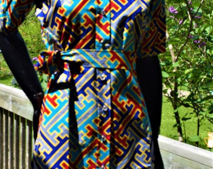 African Print Women's Dress Shirt, Women's Dress Shirt, Women's Clothing, Women's Shirt.