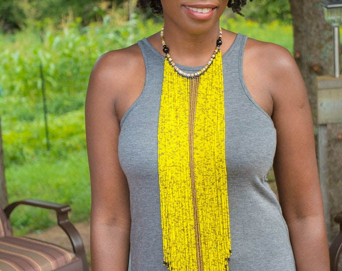 African Statement Necklace Tribal Handmade Jewelry.