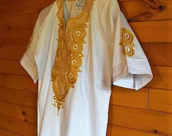White Embroidery Men Shirt African Style Dress Shirts Unisex Shirt