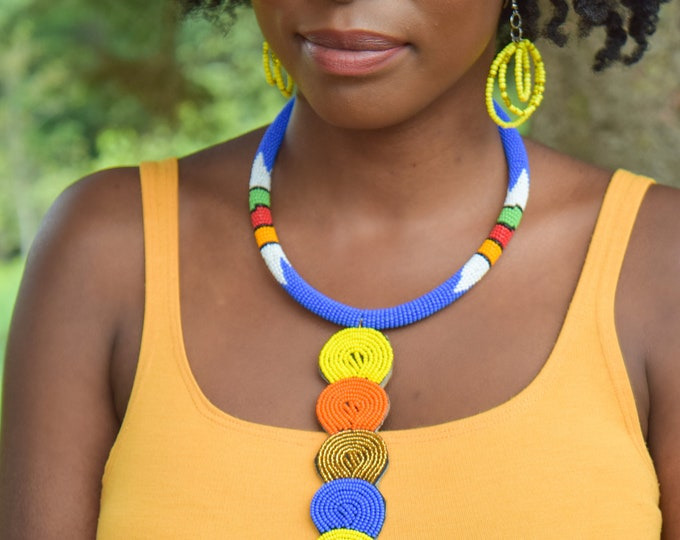 Hand-crafted Tribal Necklaces Women Jewelry Cultural Statement Necklace.