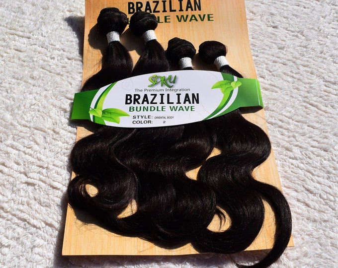 Brazilian Body Wave Weaving Extension Human Quality First Lady Hair Style.