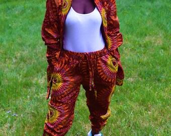 African Print Sport Suit Unique Digital Print Unisex Sport Set Casual Comfort Suits