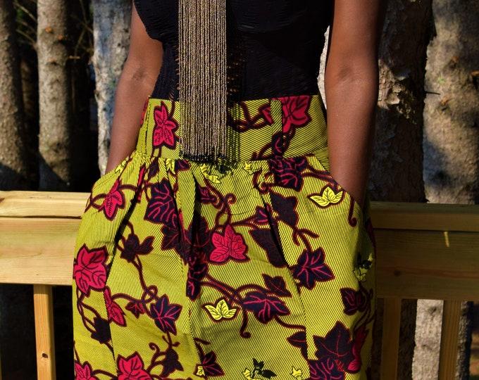African Print Women's Skirt.