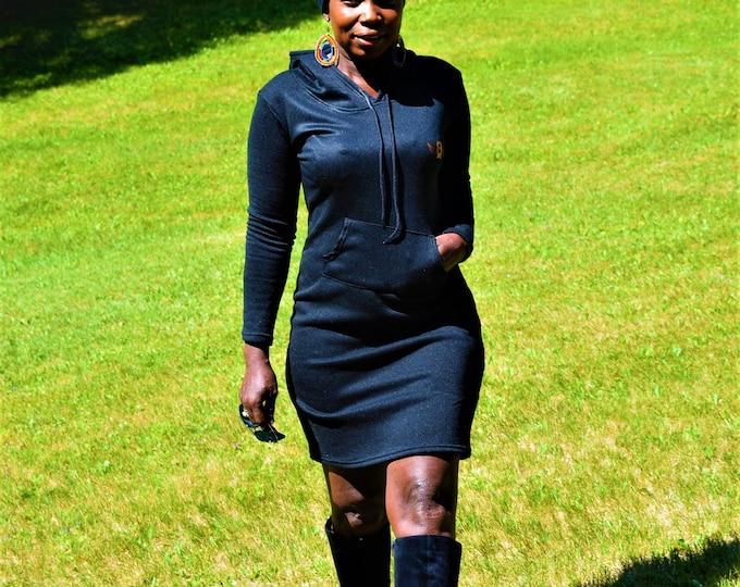 Creative Hoodies Dresses Sweatshirt Ladies Sport Dress & Unisex Hood Sweatshirt