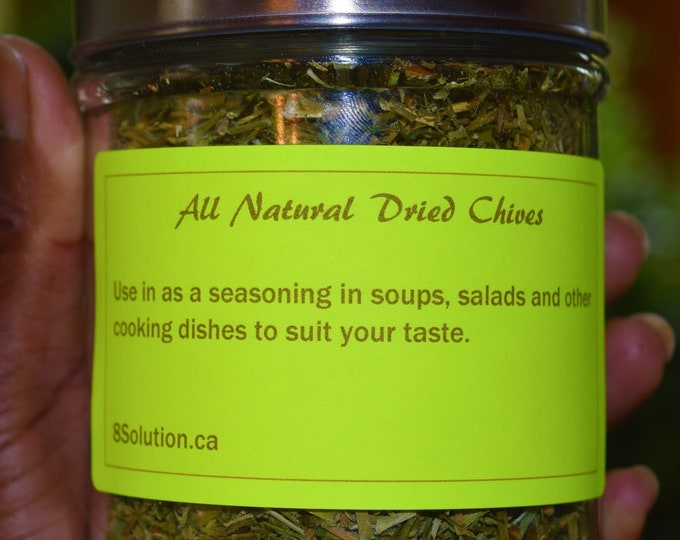 Home Grow Chives Organic Dried Chives All Natural Chives Seasoning 40 Grams Organic Chives.