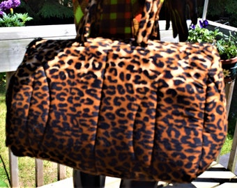 Sport Bags Travel Bags Leopard Print Sport Bag Mom's Bag Ankara Print Bag.