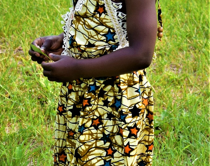 Jumpsuit Young Girl's Overall Children One Piece African Print Baby Girl Jumpsuit.