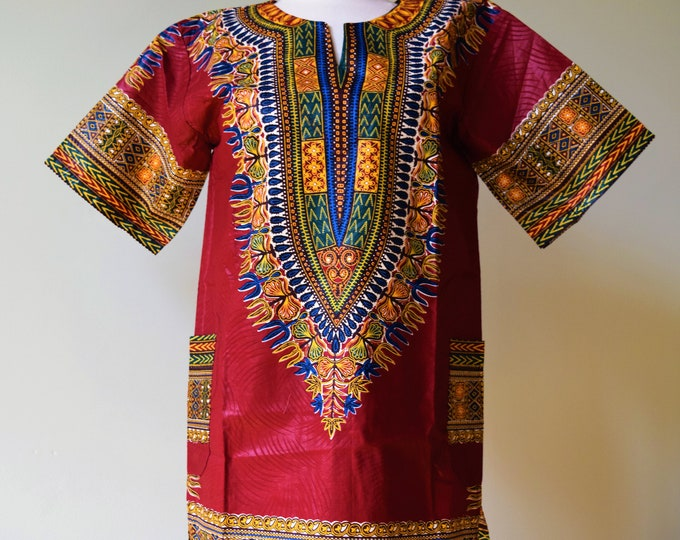 Dashiki Shirts Unisex African Print Tops Colorful Shirts.