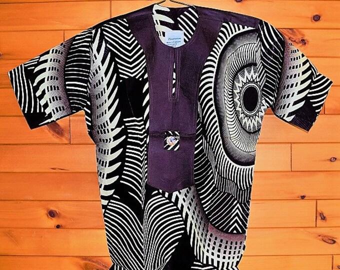 Ankara Mix Print Men's Shirt Unisex Shirt.
