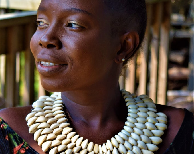 Maasai Necklace African Women's Necklace Seashell Necklace Tribal Necklace
