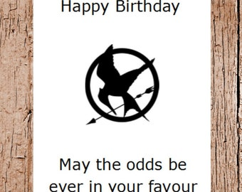 Hunger Games Birthday Card Film Card