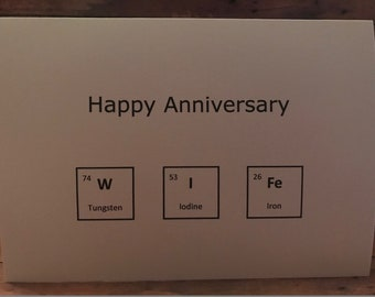 Anniversary Card Wife Science Periodic Table Elements Happy Anniversary