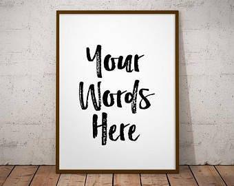 Custom Quote Frame Etsy
