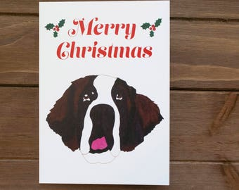 St.Bernard Christmas card