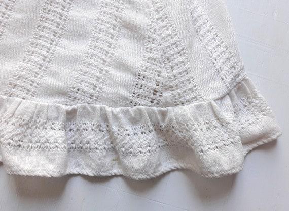 1970s Vintage White Cotton Boho Maxi-Dress / Boho… - image 9