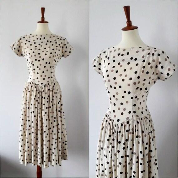 Vintage 1940s Polka-Dot Dress