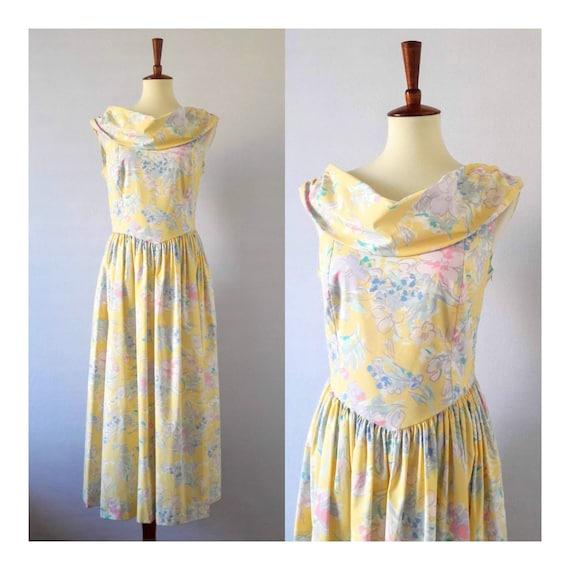 1980s Vintage Laura Ashley Peasant Dress
