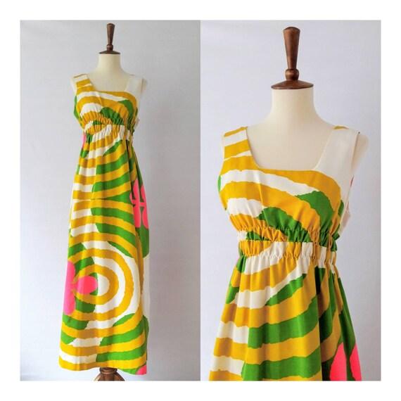 ca. 1960s Vintage Hawaiian Beach Dress