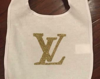 Designer Inspired LV bib