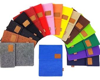 Bag for ebook reader sleeve made of felt sleeve protective cover for Kindle Kobo tolino Sony Trekstor/felt bag/gift for you, him/felt