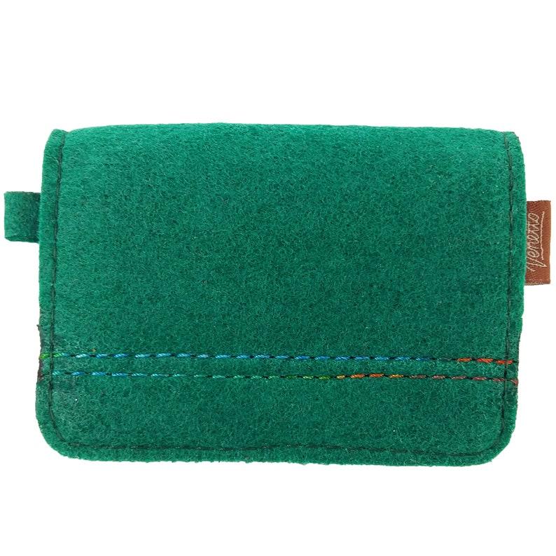 63f556c351c2b Mini Kinder-Portemonnaie Geldbörse Kind Damen Filz grün