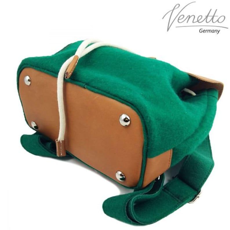b0843514b5d09 Filzrucksack Tasche Rucksack aus Filz und Leder Elementen sehr