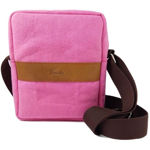 Beuteltasche Umhängetasche Handyfach India Bag lila pink orange meliert NEU!