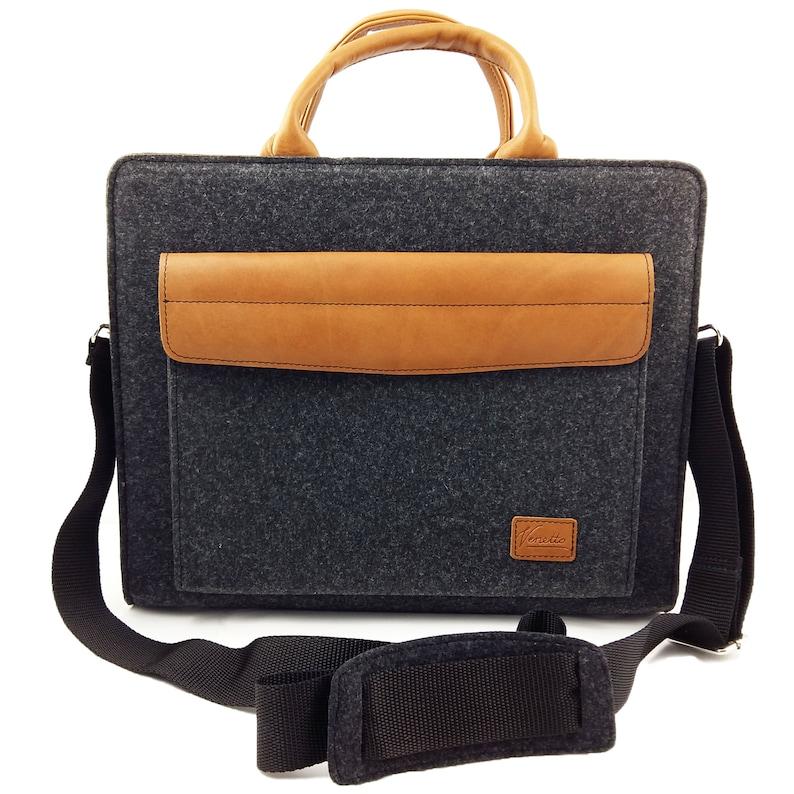 44f7f04d8f Serviette affaires travail sac sac à main sac feutre et cuir | Etsy
