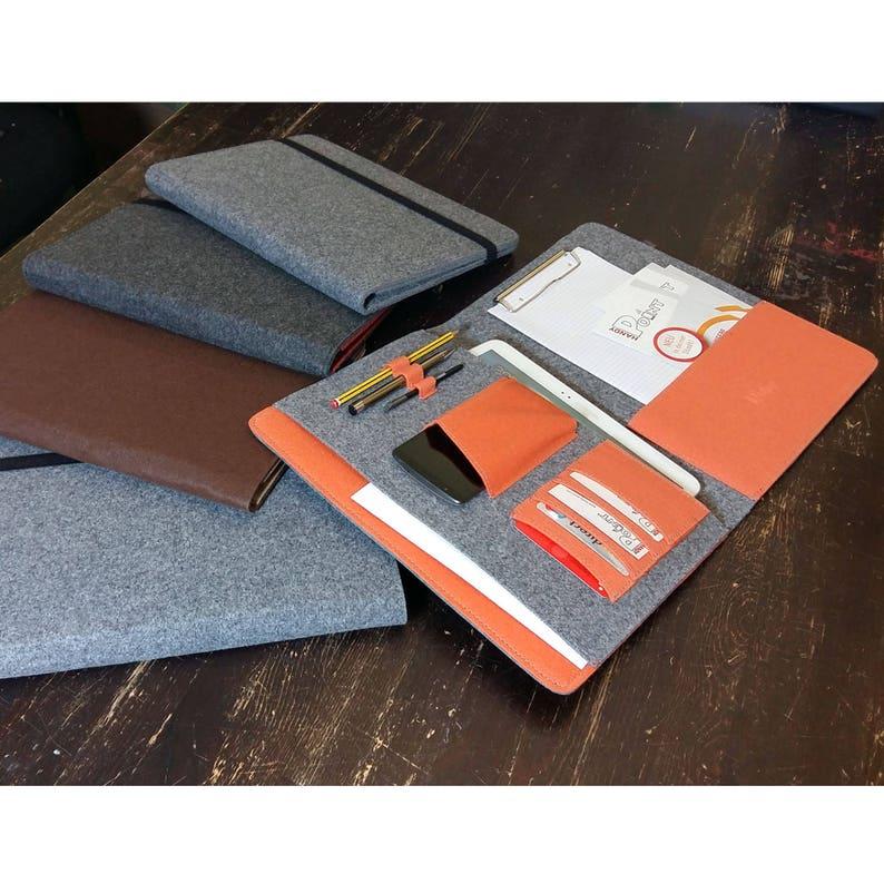 DIN A4 Organizer Bag case cover for tablet ipad Pro ebook Reader smartphone documents Filzh\u00fclle felt bag work bag gift