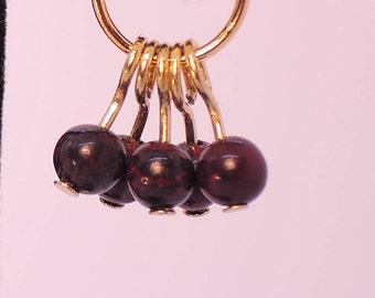 The Bibury Earrings in Red Brecciated Jasper