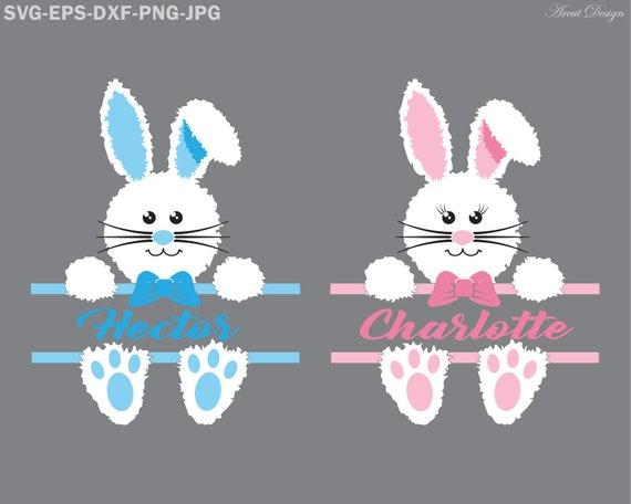 Easter Bunny Monogram Easter Svg Easter Bunny Svg Happy Etsy