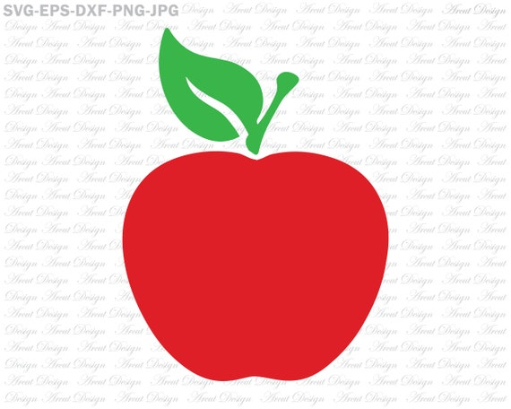 Apple Svg Teacher Svg For Silhouette Cameo Or Cricut Etsy