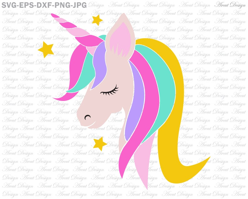 Unicorn Head Svg, Unicorn girl Svg, Unicorn Floral Svg, Unicorn Svg,  Desings Svg, For Cricut, Silhouette, Unicorn Face Svg, Rainbow Unicorn