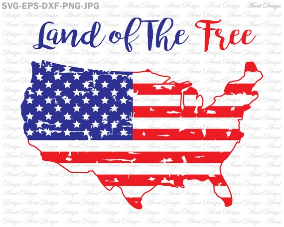 Land Of The Free Svg Fourth Of July Svg 4th Of July Svg Etsy