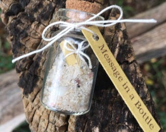 Mini Message in a Bottle, Party Favors, Wedding Favors, Beach Themed Favors