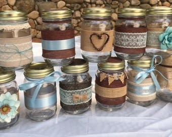 decorated jars etsy