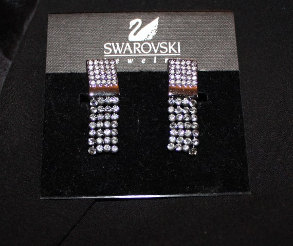 Swarovski Jewelry Crystal Clip On Dangling Earring