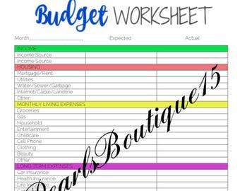 cursive and simple bill organizer worksheet luke 14 28 30