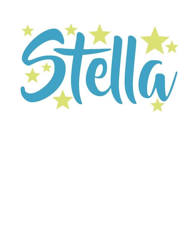 name sticker glow in the dark stars custom name silhouette | etsy