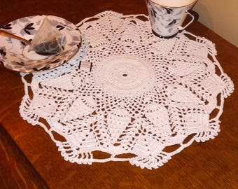 White Grape Bunch Doily