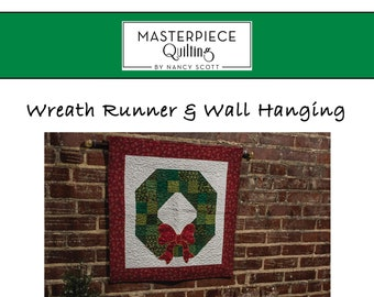 Wreath Runner & Wall Hanging Quilt Pattern - PDF Download