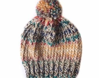 80ce061f4f8 Rustic Rainbow Knit Beanie