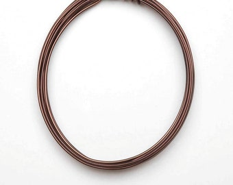 Jewelry Designer 1999-1528 Aluminum Jewelry Wire Brown 12G 3Yds