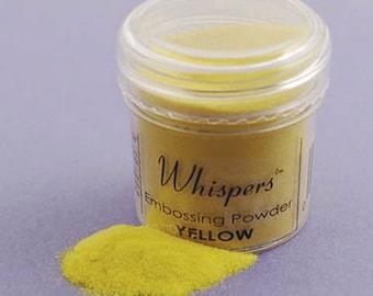 Whispers Embossing Powder - Yellow - 1 Oz